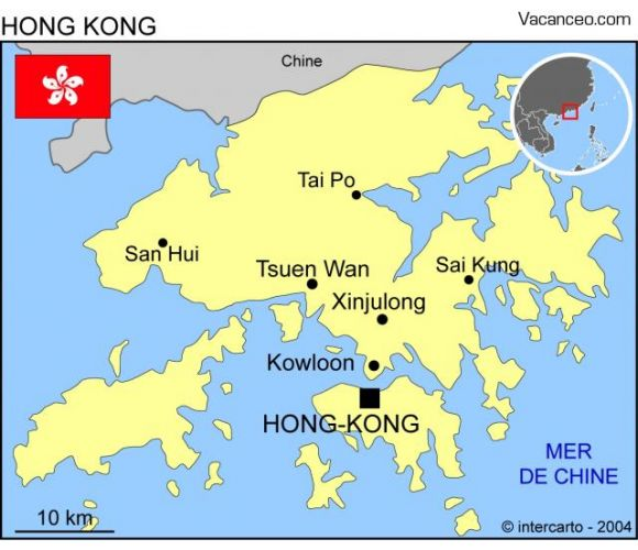 Carte Hong-kong